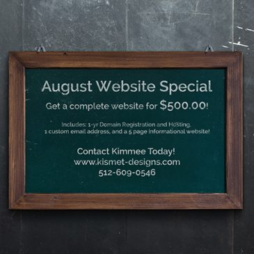 August Website Special